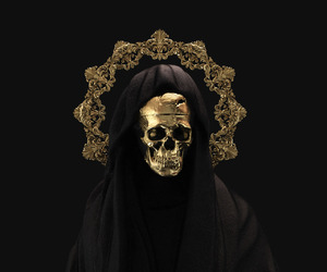 black, death, and gold image