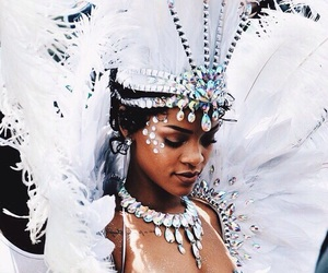 rihanna, white, and Queen image