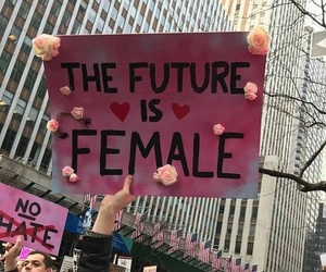 female, feminism, and pink image