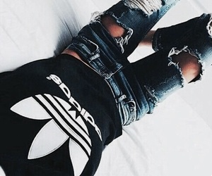 adidas, fashion, and jeans image