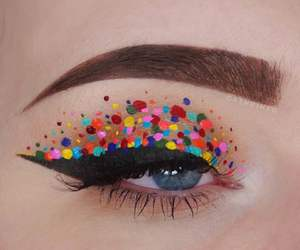 art, colors, and makeup image