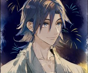 anime, firework, and anime boy image