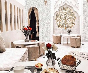breakfast, flowers, and morocco image