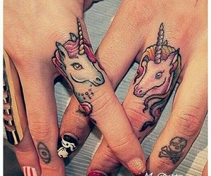 unicorn, tattoo, and nails image