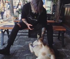 boy, ulzzang, and dog image