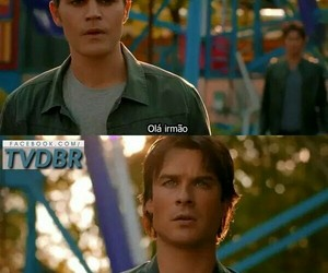 the vampire diaries, brothers salvatore, and defan image