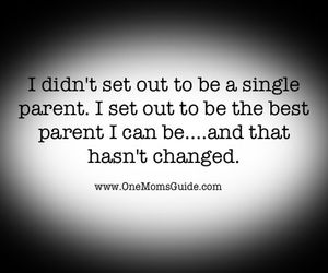 single mom, mother, and quote image