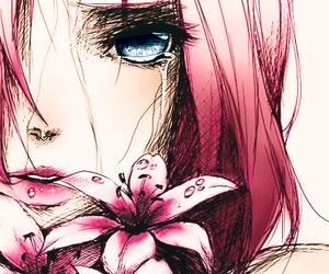 anime girl, manga girl, and crying image