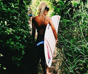 surf, tropical, and beach image