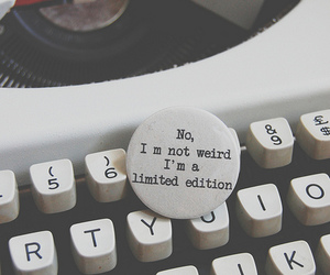 badge, limited edition, and typewritten image