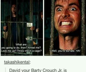 barty crouch jr, david tennant, and doctor who image
