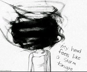 storm, head, and sad image
