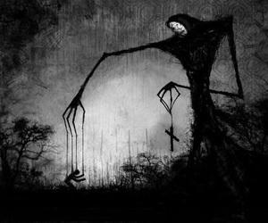 dark, art, and creepy image