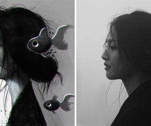art, beautiful, and black white image