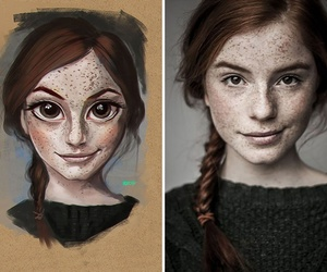 art, beautiful, and red hair image