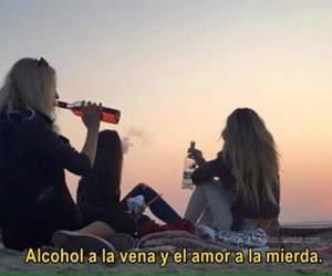 alcohol, playa, and amigas image