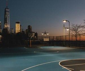 sunset, Basketball, and city image