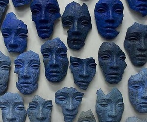 blue, face, and mask image