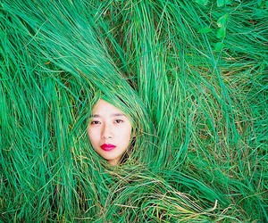 chinese, ren hang, and green image