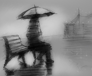art, mood, and black and white image