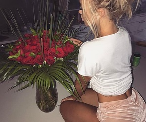 rose, flowers, and style image
