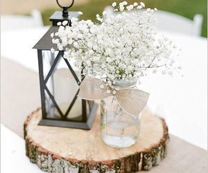 flowers, wedding, and rustic image