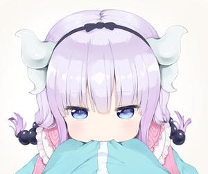 anime, loli, and maid dragon image