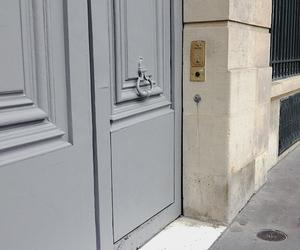 doors, gray, and exterior design image