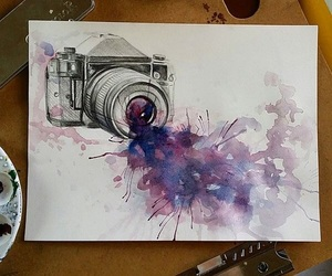 art, camera, and draw image