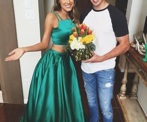 green, prom dress, and prom dresses image