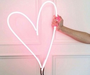 hearts, neon, and pinks image