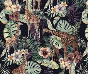 animal, background, and botanical image