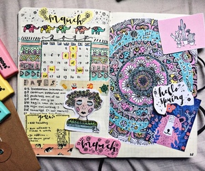 art, journal, and diy image