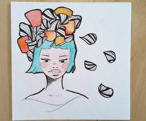 art, watercolors, and drawing image