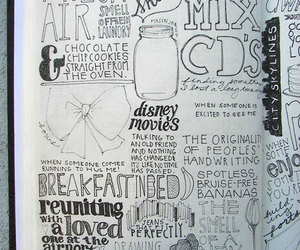 sketchbook and typography image