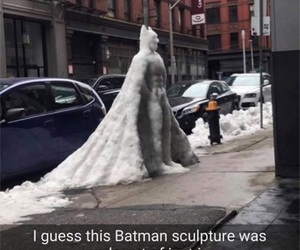 batman, funny, and ice image