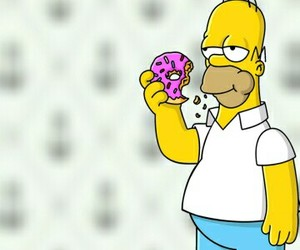 donut, simpson, and homer image