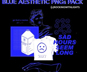aesthetic, blue, and png image