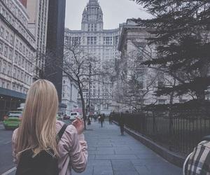 adventure, nyc, and girl image