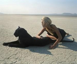 girl, desert, and black image