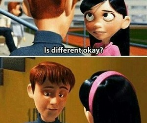 different, The Incredibles, and disney image