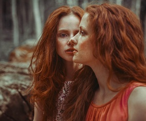 art, girls, and red hair image