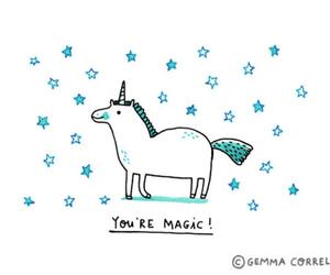 unicorn, magic, and stars image