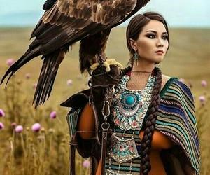 eagle, girl, and national dress image