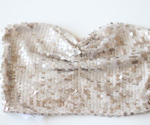 beige, sequins, and fashion image