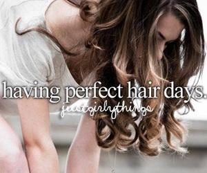 hair, perfect, and justgirlythings image