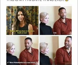 funny, will smith, and margot robbie image