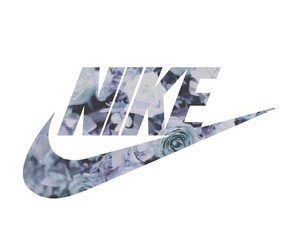 nike, roses, and wallpaper image