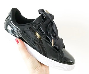 girl, puma, and shoes image