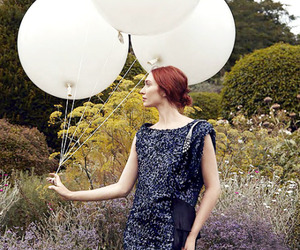 actress, ballons, and hairstyle image